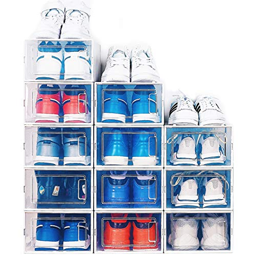 NEATLY Shoe Organizer for Closet Stackable Shoe Storage (12-Pack)